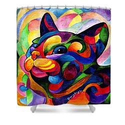 Zen Ziggy Shower Curtain by Sherry Shipley