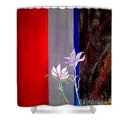 Zentastic Pair Shower Curtain by Rizwana Mundewadi