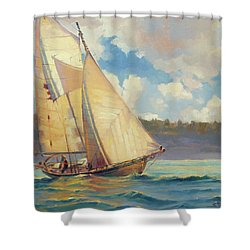 Shower Curtain featuring the painting Zephyr by Steve Henderson
