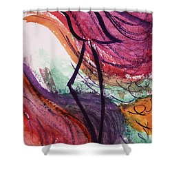Zephyr Zayin Shower Curtain