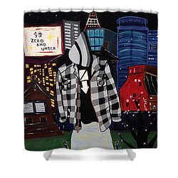 Zero And Under Goes To Tokyo Shower Curtain