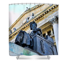 Zeus  Shower Curtain by Paul Ward