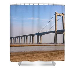 Zhengzhou Taohuayu Huanghe Bridge  Shower Curtain