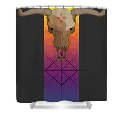Zia Symbol Shower Curtain