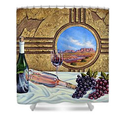 Zia Wine Shower Curtain