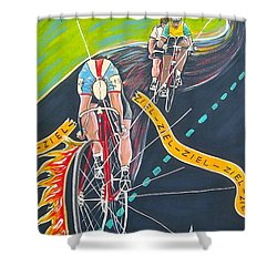 Ziel Shower Curtain by V Boge