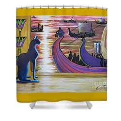 Zig Of Blaa Kattproduksjoner   Inspects The Ships Shower Curtain