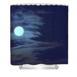 Zig Zag Moon Shower Curtain by Mary Deal