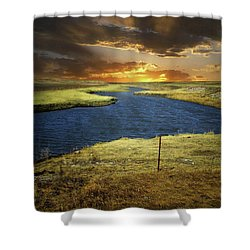 Zig Zag River Shower Curtain