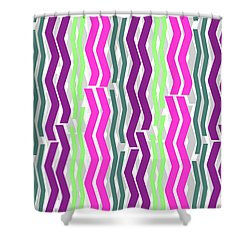Zig Zig Stripes Shower Curtain