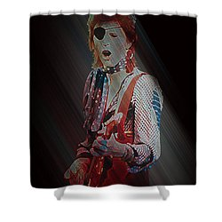 Ziggy Played Guitar Shower Curtain by Kenneth Armand Johnson
