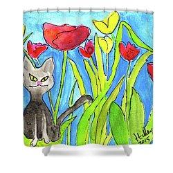 Ziggy Shower Curtain by Teresa Tilley
