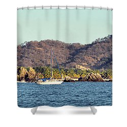Zihuatanejo Bay Shower Curtain