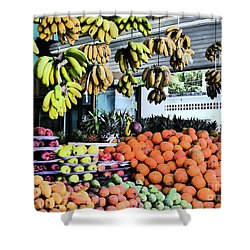 Zihuatanejo Market Shower Curtain