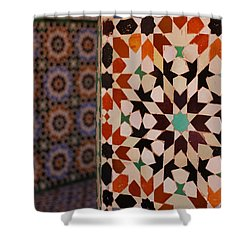 Shower Curtain featuring the photograph Zillij by Ramona Johnston