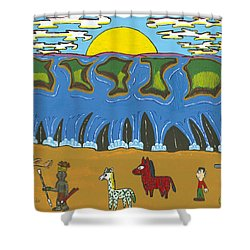 Zimbabwe Victoria Falls   Aug Shower Curtain