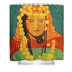 Shower Curtain featuring the painting Zina by John Keaton