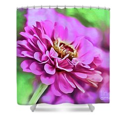 Zinnia Art 2 Shower Curtain