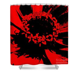 Shower Curtain featuring the photograph Zinnia Crown by Jeanette French