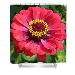 Shower Curtain featuring the photograph Zinnia by Jeanette French
