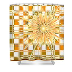 Zinnia Shower Curtain by Michelle H