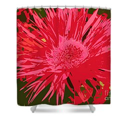 Shower Curtain featuring the photograph Zinnia Party by Jeanette French