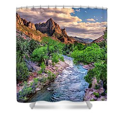 Zion Canyon At Sunset Shower Curtain