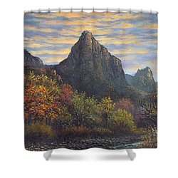 Zion Canyon Shower Curtain by Sean Conlon