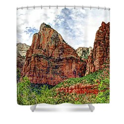 Zion N P # 41 - Court Of The Patriarchs Shower Curtain