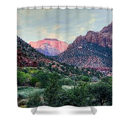 Zion National Park Shower Curtain by Charlotte Schafer