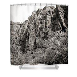 Zion National Park Sepia Tones  Shower Curtain