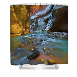 Zion Watercolor Shower Curtain