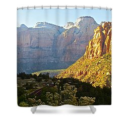 Zion's Gold Shower Curtain