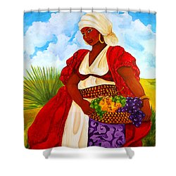 Shower Curtain featuring the painting Zipporah by Diane Britton Dunham