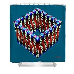 Zoidec 3 Shower Curtain