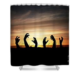 Zombie Apocalypse Shower Curtain