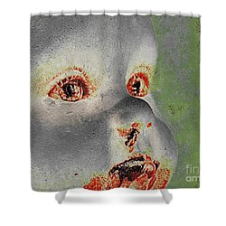 Zombie Baby Four Shower Curtain