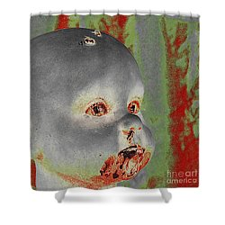 Zombie Baby Two Shower Curtain