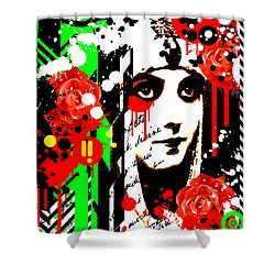 Zombie Queen Roses Shower Curtain by Chris Andruskiewicz