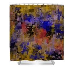 Zonal Warfare Shower Curtain