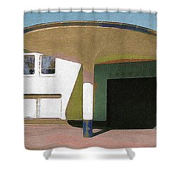 Zoo Garage, Cologne, Germany. Shower Curtain