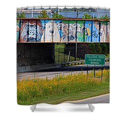 Zoo Mural Shower Curtain