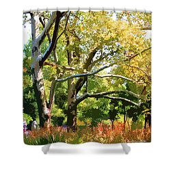 Zoo Trees Shower Curtain