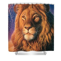 Zoofari Poster The Lion Shower Curtain