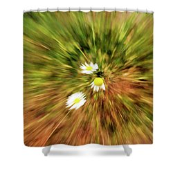 Zooming In Or Zooming Out Shower Curtain by James Steele