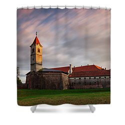 Shower Curtain featuring the photograph Zrinskis' Castle by Davor Zerjav