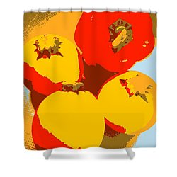 Zucchini And Bell Pepper Shower Curtain