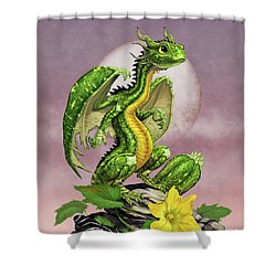 Shower Curtain featuring the digital art Zucchini Dragon by Stanley Morrison