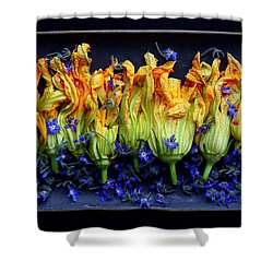 Zucchini Flowers Shower Curtain