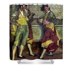 Zuloaga: Bullfighters Shower Curtain by Granger